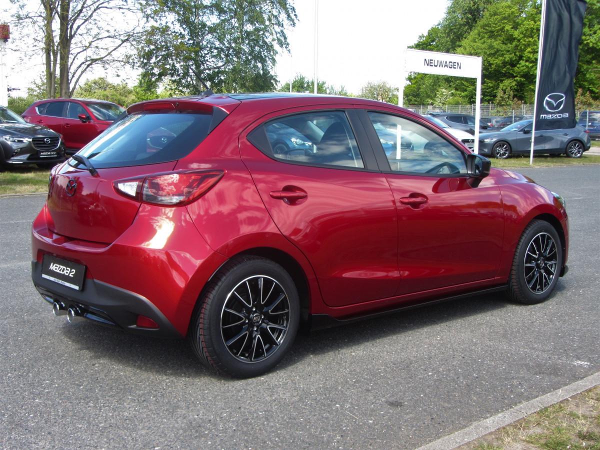 Mazda 2 Sondermodell Senshi schräg von hinten