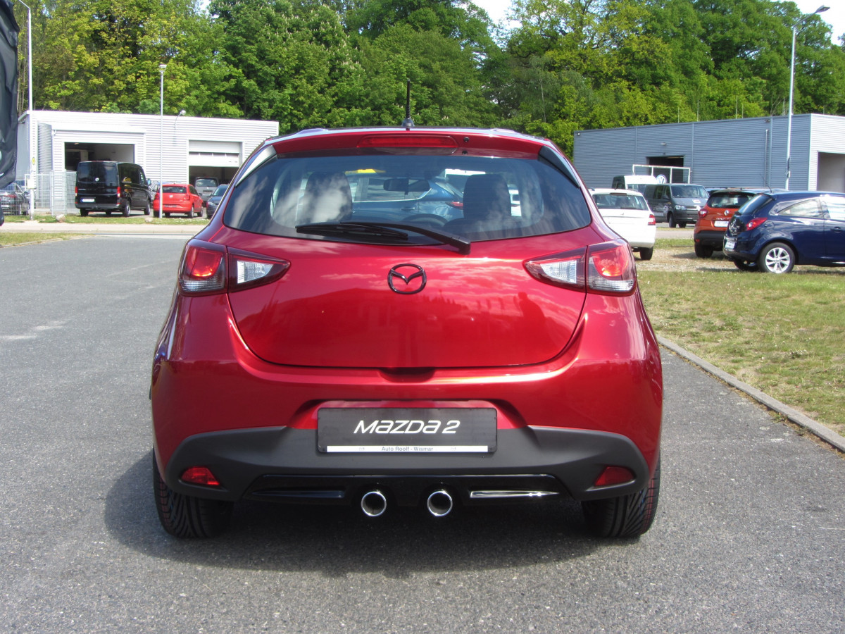 Mazda 2 Sondermodell Senshi Heckansicht