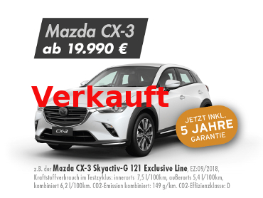 Mazda CX-3 Skyactiv-G 121 Exclusive Line