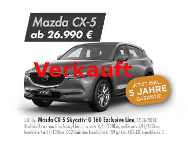 Mazda CX-5 Skyactiv-G 160 Exclusive Line