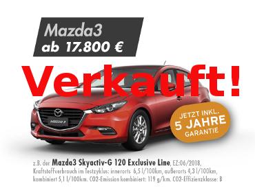 Mazda3 Skyactiv-G 120 Exclusive Line