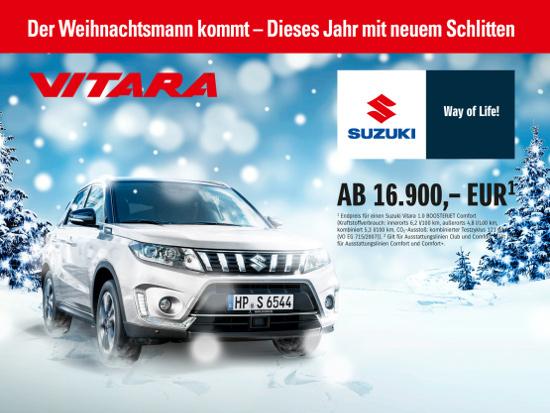 Autohaus Sachs Suzuki Vitara - Der Weihnachtsmann kommt im neuen Schlitten.
