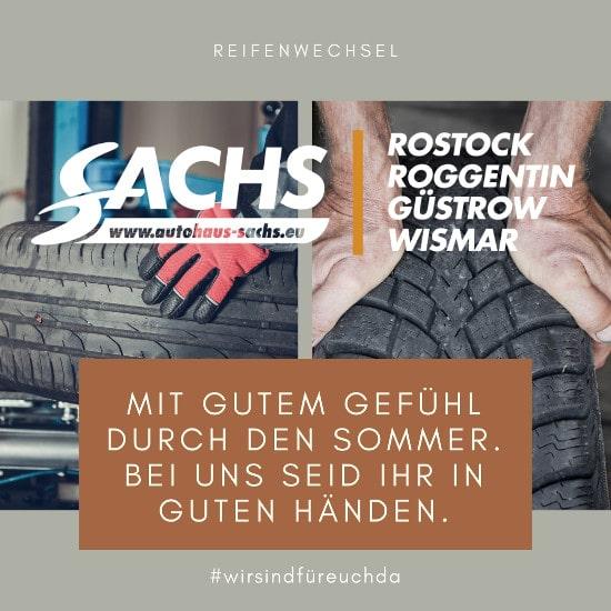 Autohaus Sachs Rostock Roggentin Güstrow Wismar #Reifenwechsel#wirsindfuereuch