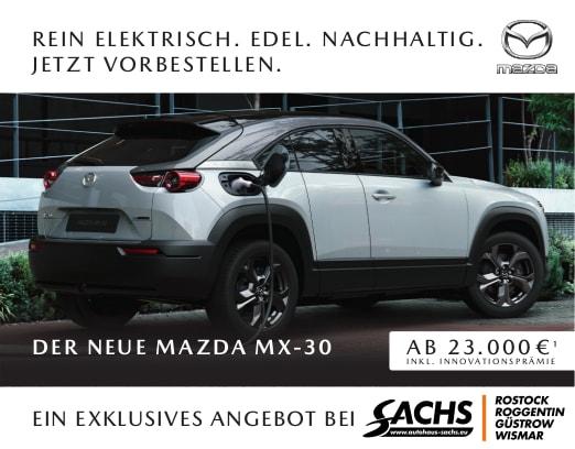 Der neue vollelektrische Mazda MX-30 bei Autohaus Sachs