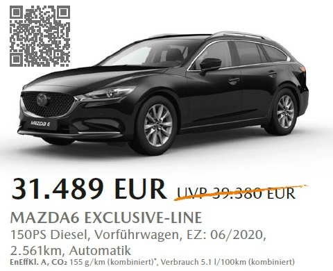 Mazda6 Aktion - Save the date 30.09.2020 G101-44799