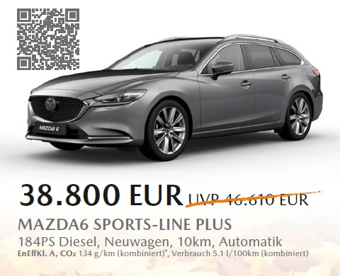 Aktion Mazda6 - SAVE THE DATE 30.09.2020