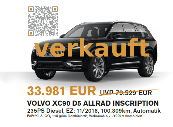 Volvo XC90 Herbstaktion